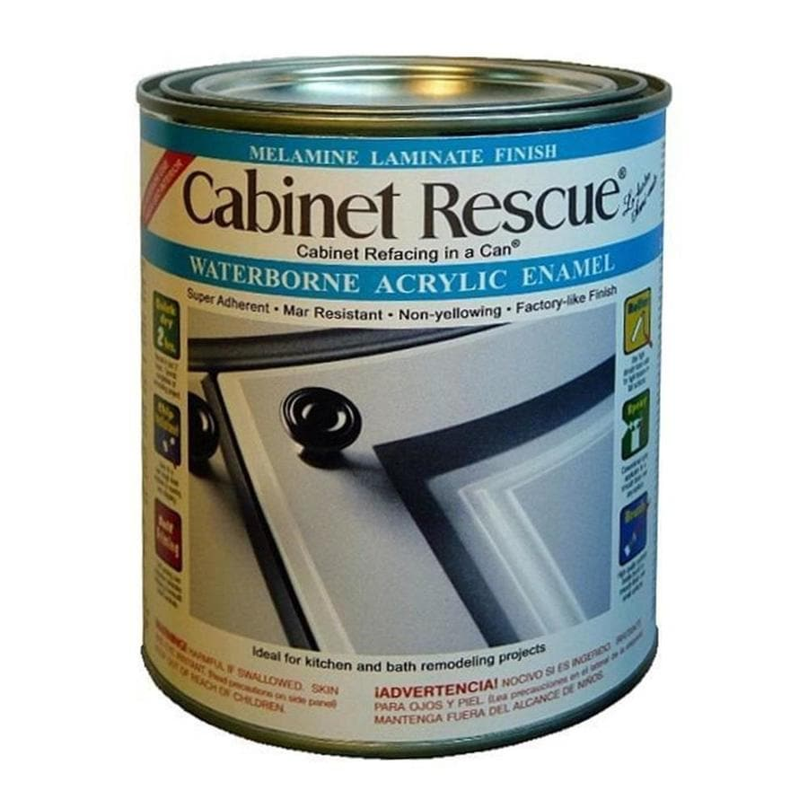 Cabinet Rescue Bright White Eggshell Latex Enamel Interior Paint and Primer in One (Actual Net Contents: 31-fl oz)