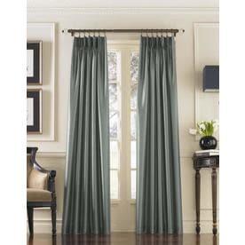 "132""x30"" Marquee Lined Room Darkening Curtain Panel Teal - Curtainworks"