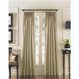 "144""x30"" Marquee Lined Room Darkening Curtain Panel Sand - Curtainworks"