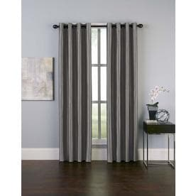 Curtainworks Malta Room Darkening Curtain Panel - Pewter (144u0022)