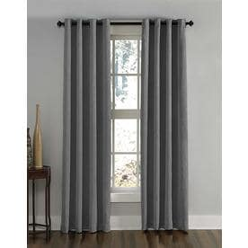 "144""x50"" Lenox Gommet Top Room Darkening Curtain Panel Gray - Curtainworks"