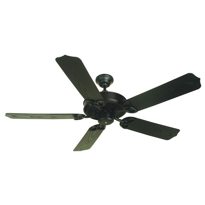 flat black indoor outdoor ceiling fan