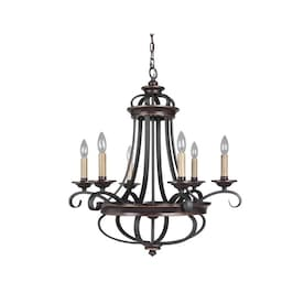 Craftmade Seville 6 Light Spanish Bronze Traditional Chandelier In The Chandeliers Department At Lowes Com