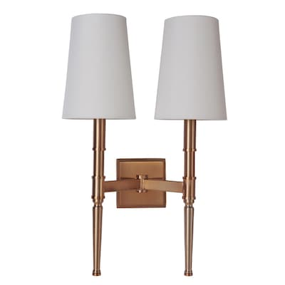 new concept 3a7d1 7c921 Craftmade Ella 2 Light Wall Sconce in Satin Brass at Lowes.com