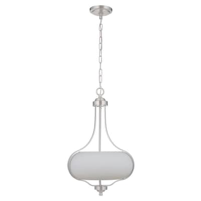 Craftmade Serene Brushed Nickel Transitional Frosted Glass ...