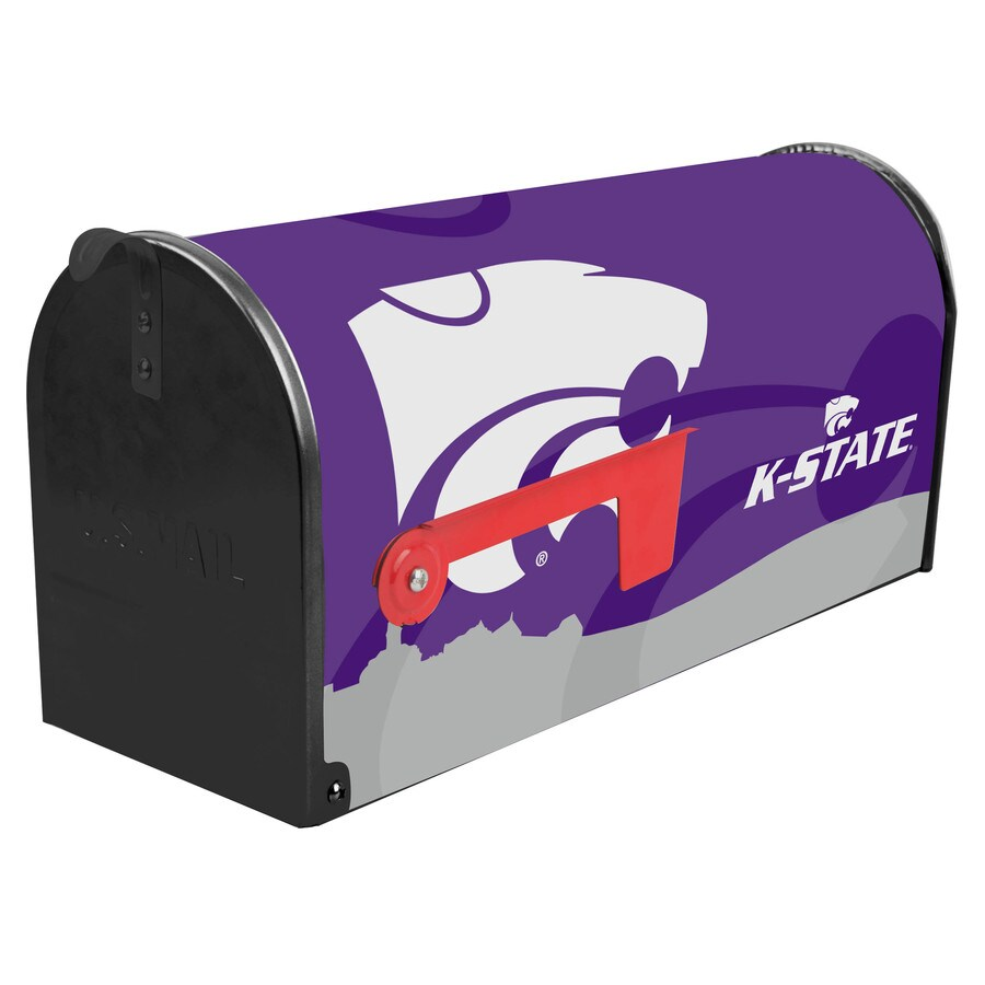 S.A.W. NCAA 7-in x 9-in Metal Kansas State University Post Mount Mailbox
