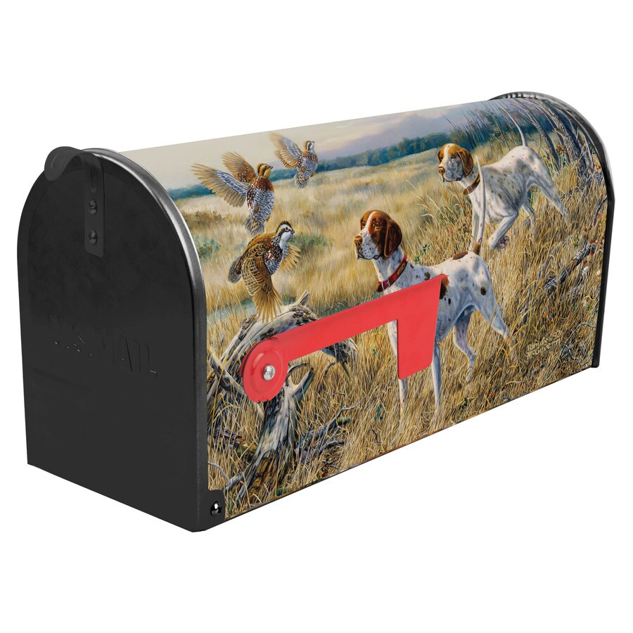 S.A.W. 7-in x 9-in Metal Uncovered Post Mount Mailbox