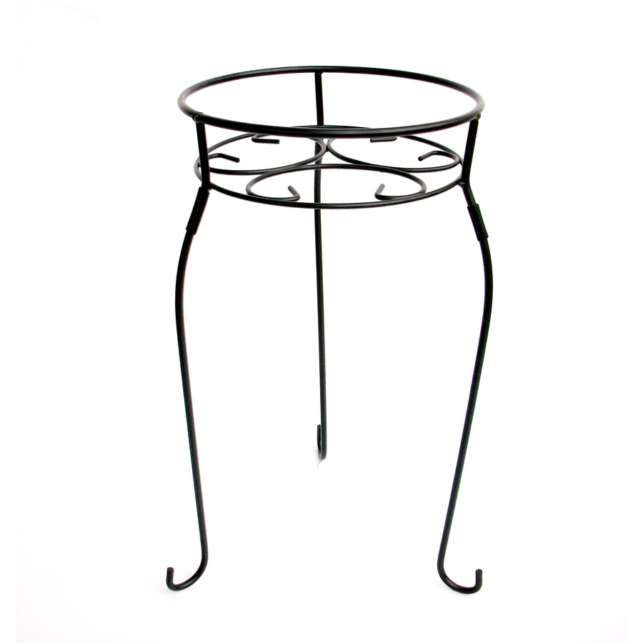 Garden Treasures 21-in Black Round Steel Plant Stand