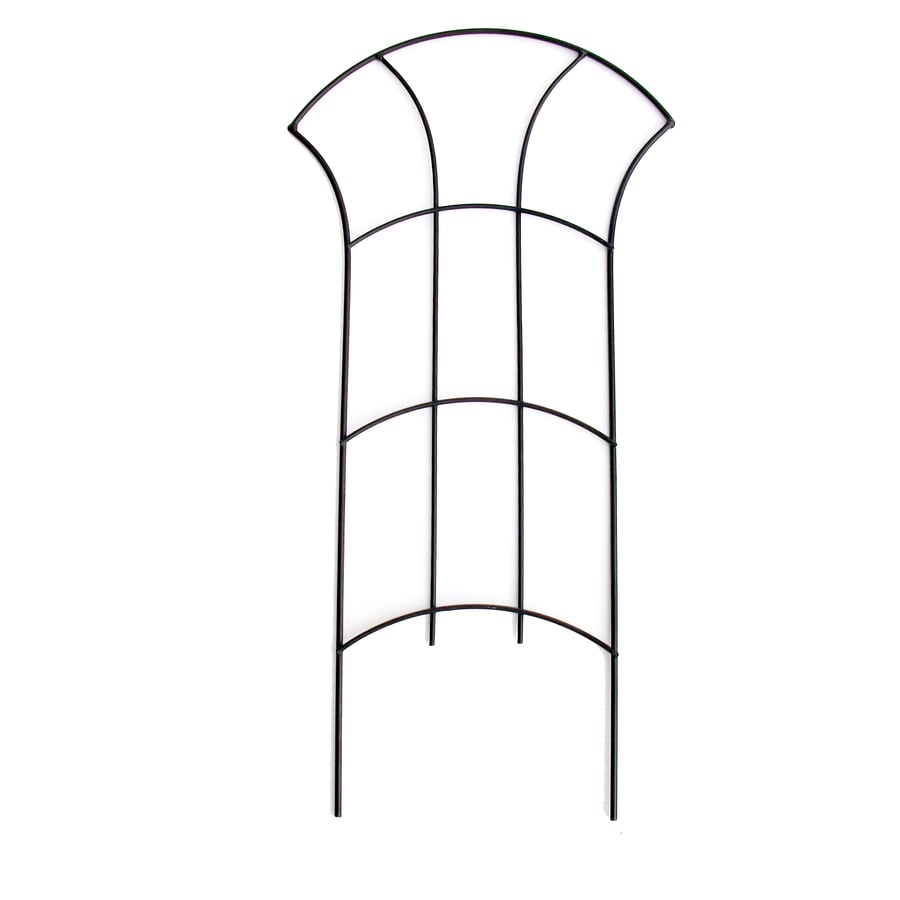 Garden Treasures 12-in W x 24-in H Black Garden Trellis