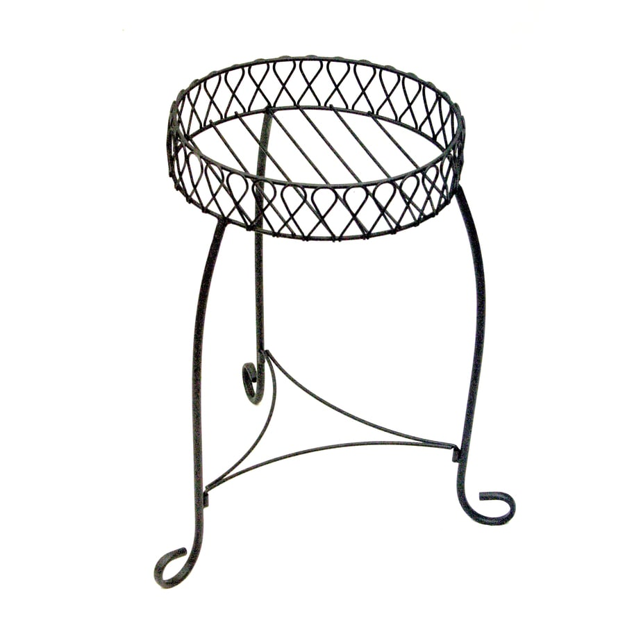 Garden Treasures Nottingham 20-in Black Round Steel Plant Stand