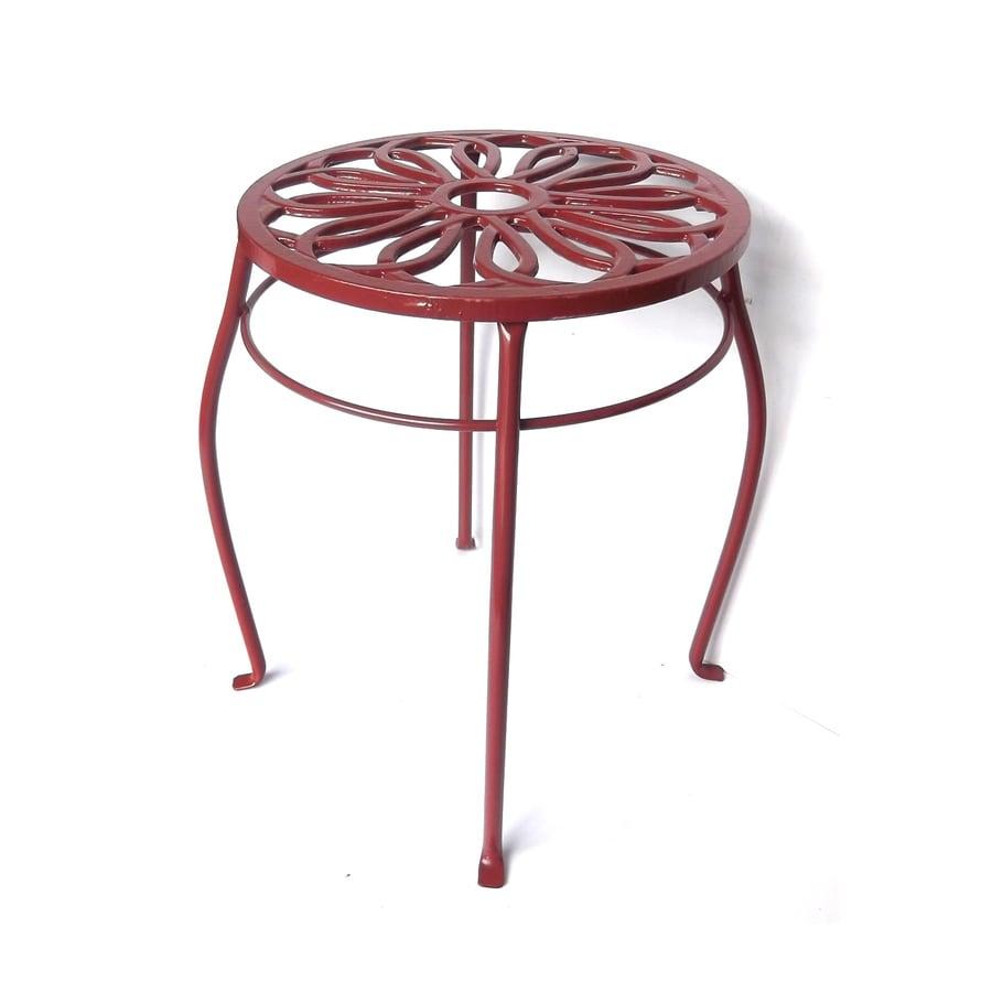 Garden Treasures 15-in Red Round Steel Plant Stand