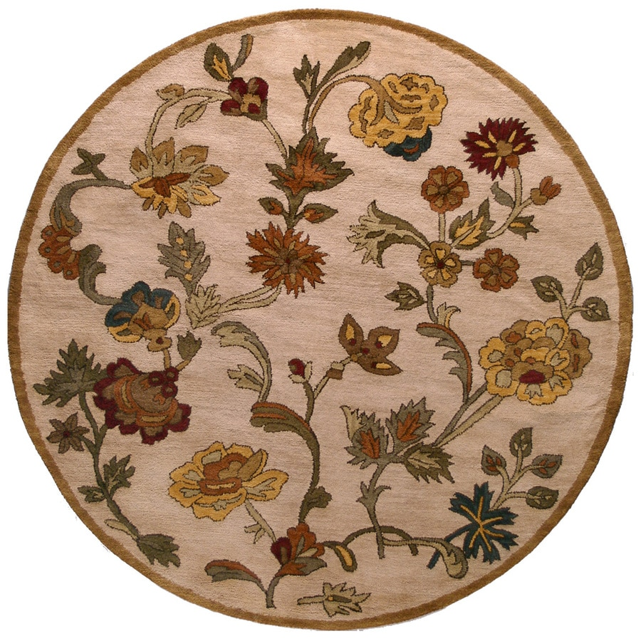 Bashian Ipswich Round Indoor Tufted Area Rug (Common: 6 x 6; Actual: 72-in W x 72-in L)