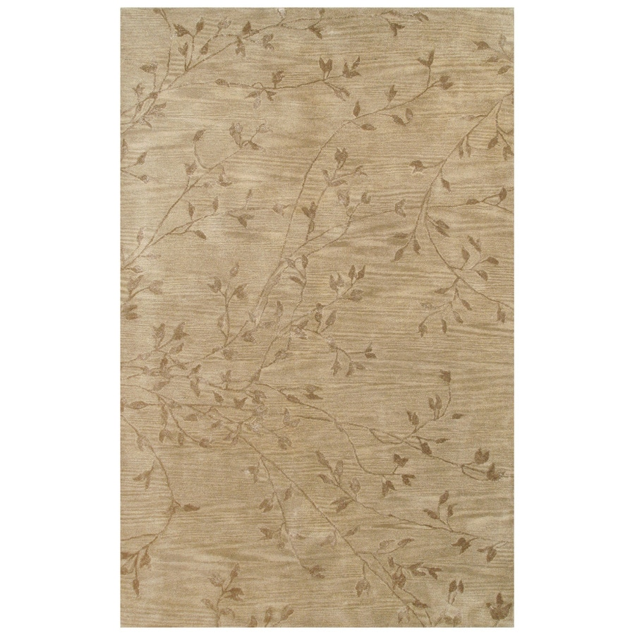 Bashian Charlton Rectangular Brown Transitional Tufted Wool Area Rug (Common: 6-ft x 9-ft; Actual: 5.5-ft x 8.5-ft)