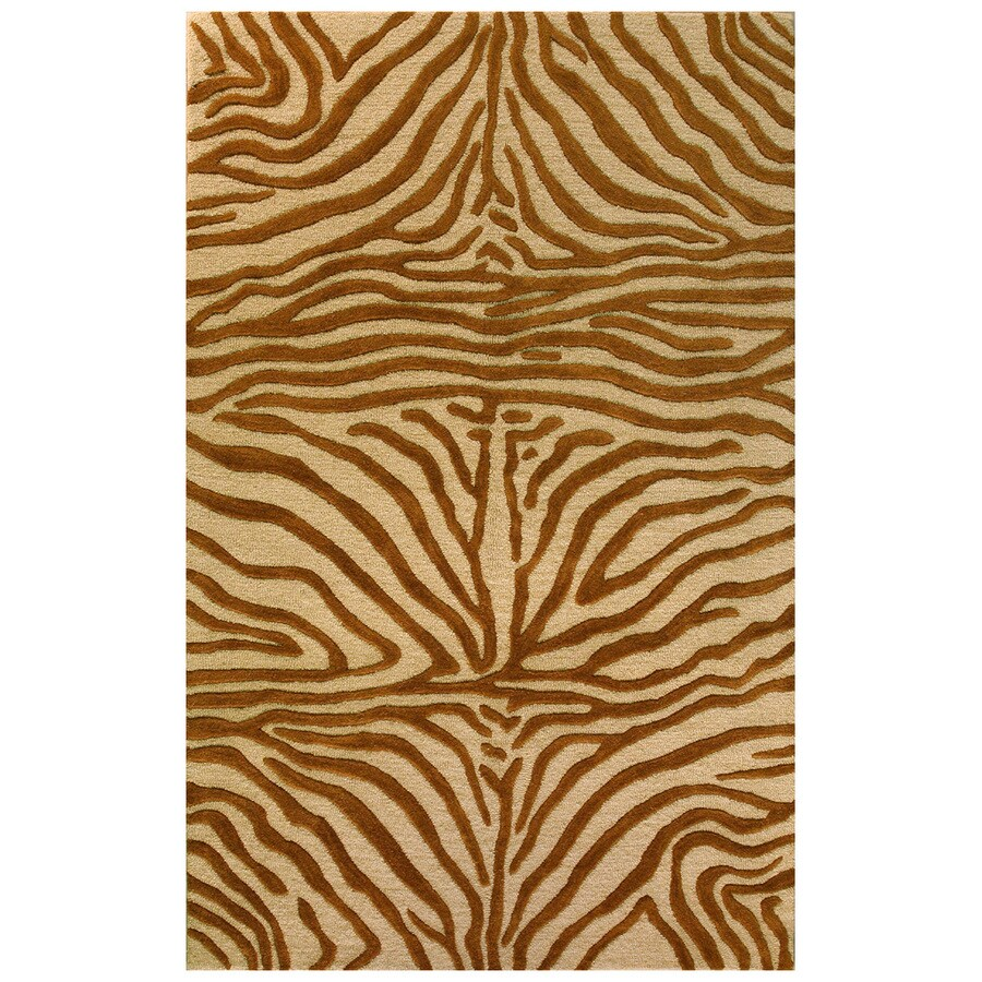 Bashian Portsmouth Rectangular Brown Transitional Tufted Wool Area Rug (Common: 4-ft x 6-ft; Actual: 3.5-ft x 5.5-ft)