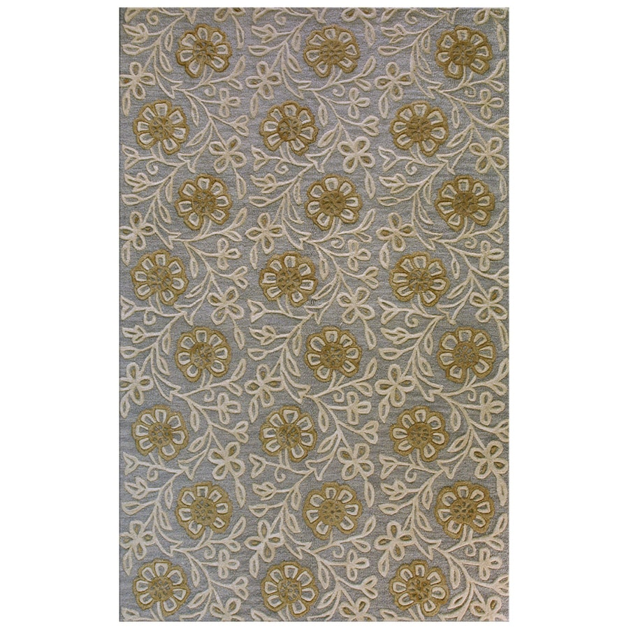 Bashian Portsmouth Rectangular Blue Transitional Tufted Wool Area Rug (Common: 9-ft x 12-ft; Actual: 8.5-ft x 11.5-ft)