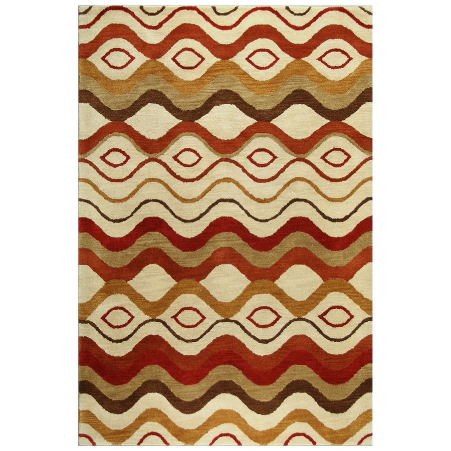 Bashian Ashland Rectangular Multicolor Transitional Tufted Wool Area Rug (Common: 9-ft x 12-ft; Actual: 8.5-ft x 11.5-ft)
