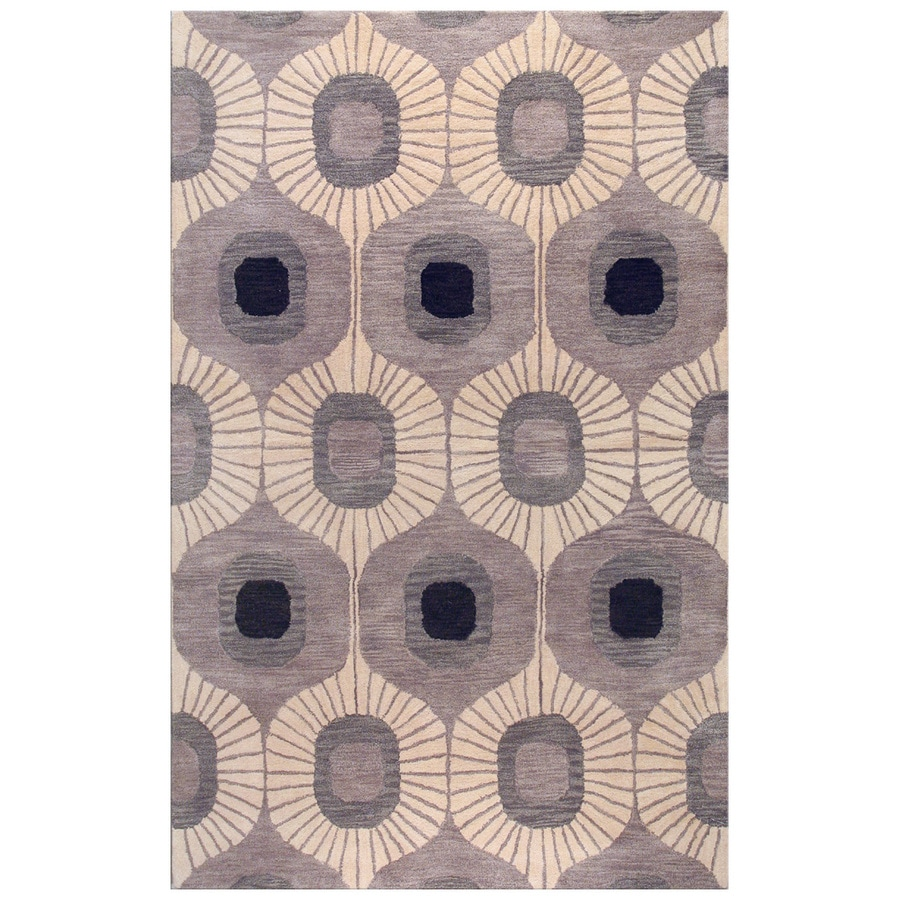 Bashian Ashland Rectangular Gray Transitional Tufted Wool Area Rug (Common: 4-ft x 6-ft; Actual: 3.5-ft x 5.5-ft)
