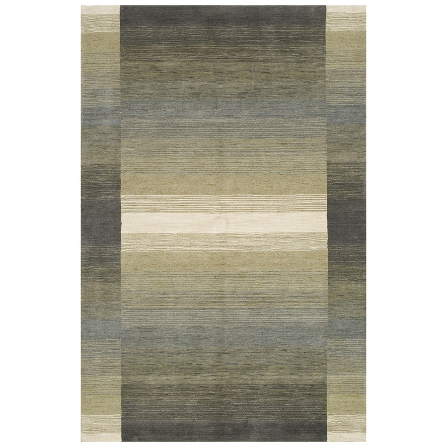 Bashian Fulham Gray Hand-Loomed Wool Runner (Common: 2-ft x 8-ft; Actual: 2-ft x 8-ft)
