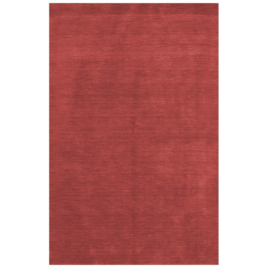 Bashian Fulham Rectangular Red Geometric Hand-Loomed Wool Area Rug (Common: 9-ft x 12-ft; Actual: 8.5-ft x 11.5-ft)