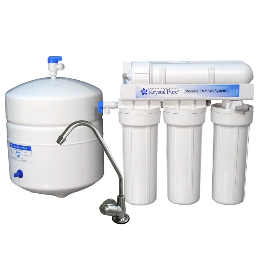 Shop Krystal Pure Triple Stage Reverse Osmosis Filtration Under Sink Water Filtration System At