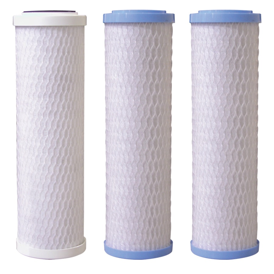 Krystal Pure 3-Pack 10-in Under Sink Replacement Filters with Reverse Osmosis Filtration