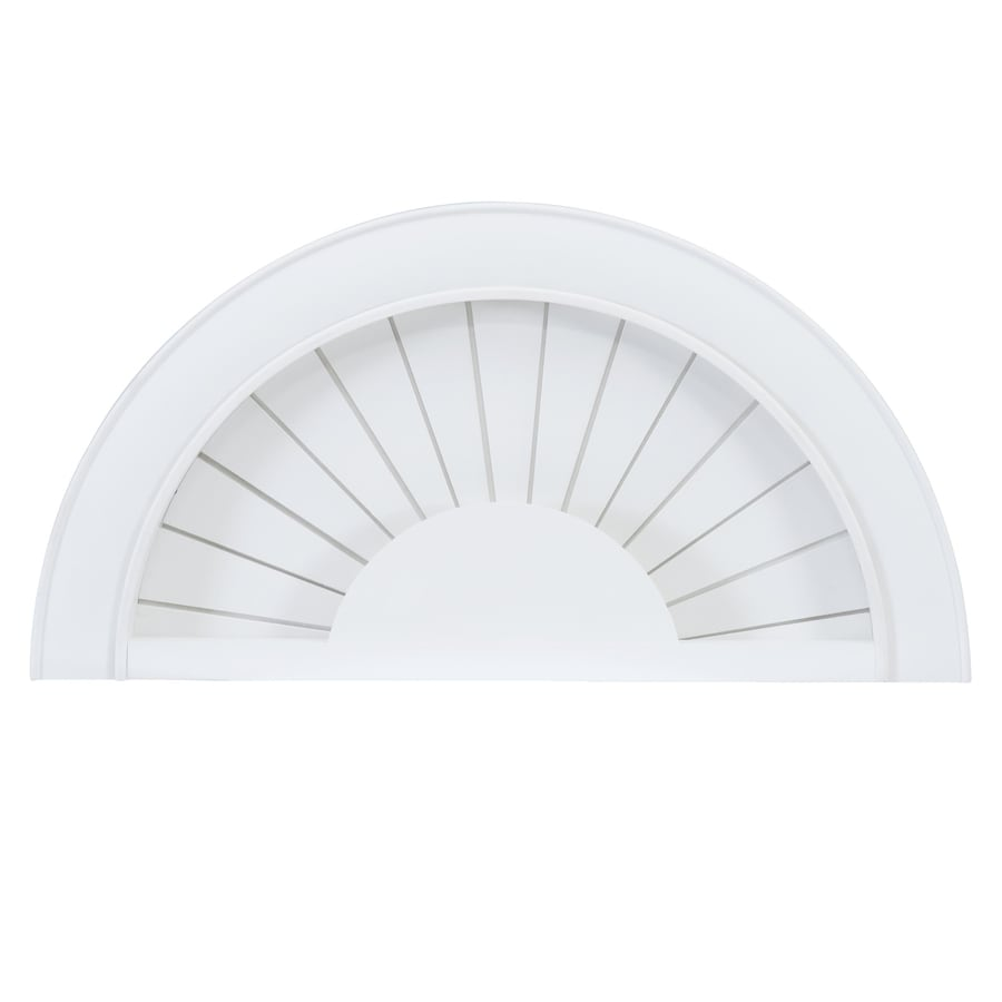 2.25-in Cordless White Faux Wood Room Darkening Arch Blinds (Common: 46-in; Actual: 46-in x 23-in)