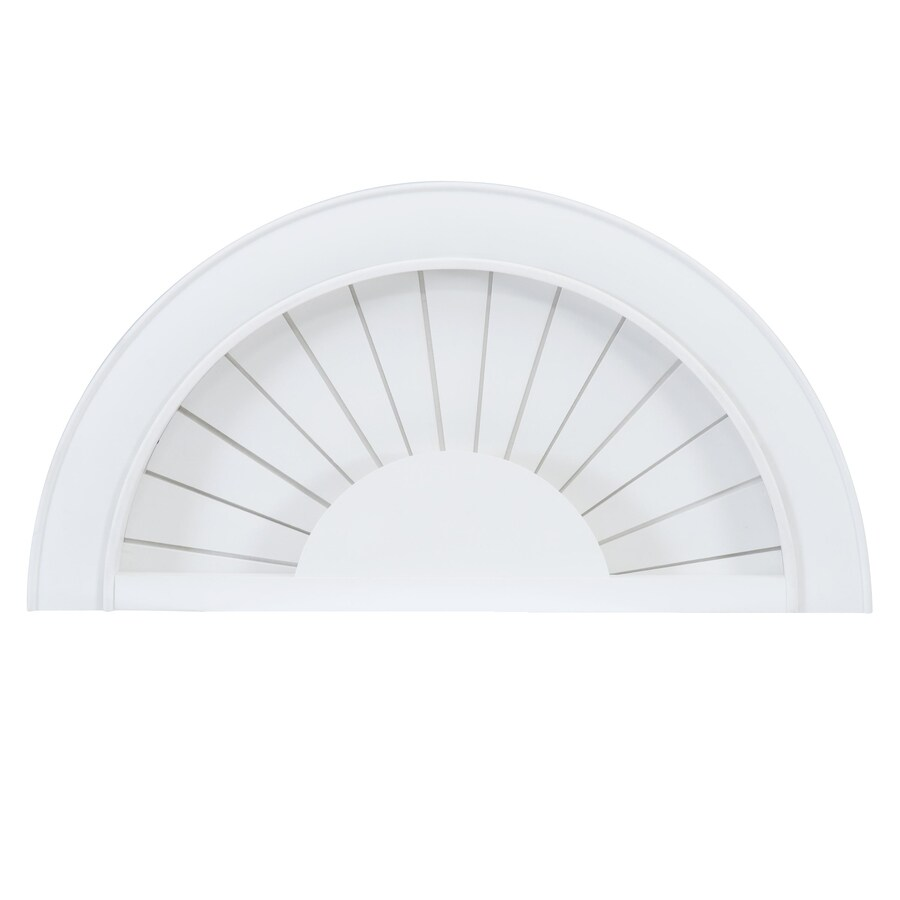 2.25-in Cordless White Faux Wood Room Darkening Arch Blinds (Common: 48-in; Actual: 48-in x 24-in)