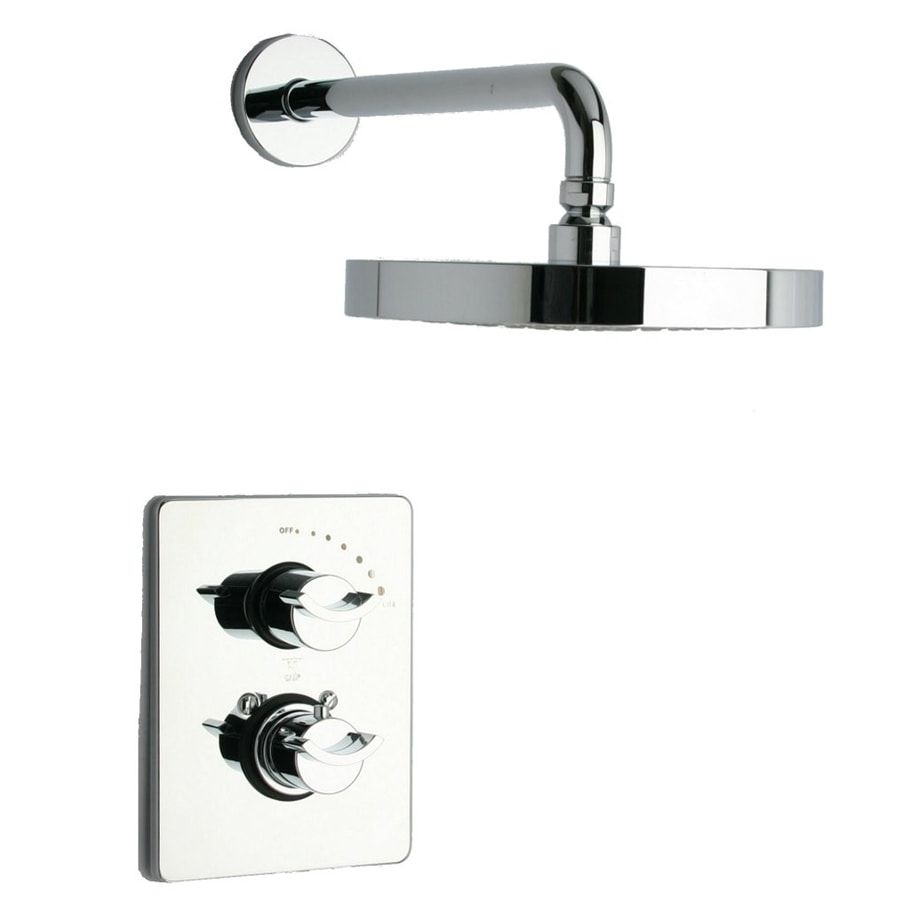 LaToscana Morgana Chrome 2-Handle WaterSense Shower Faucet with Multi-Function Showerhead