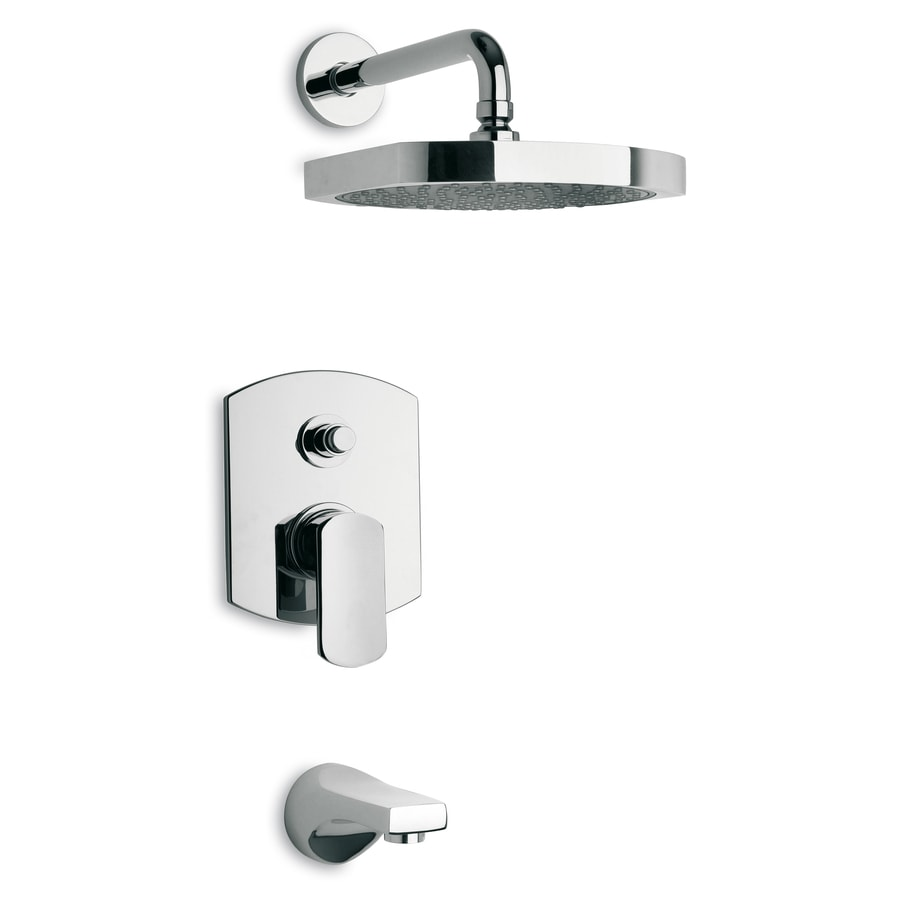 LaToscana Novello Chrome 1-Handle WaterSense Shower Faucet with Single Function Showerhead
