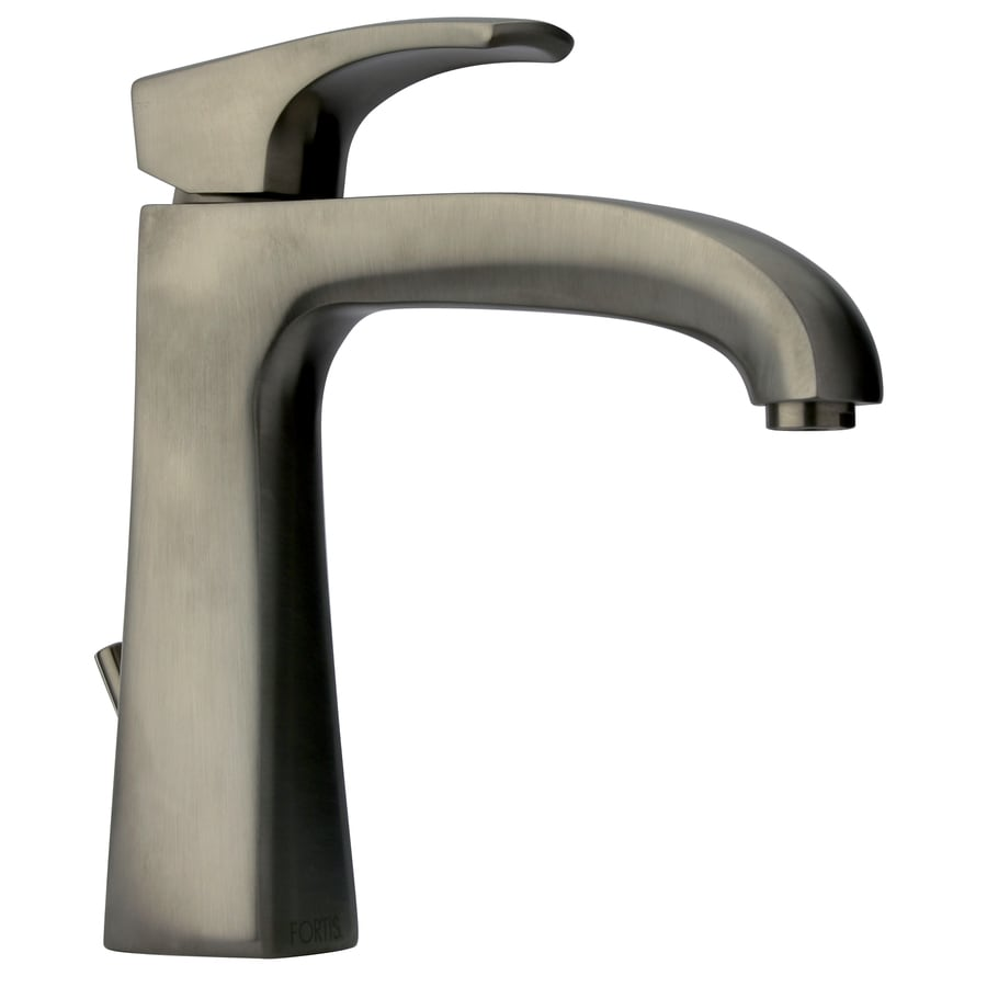LaToscana Lady Brushed Nickel 1-handle Single Hole Commercial Bathroom Faucet