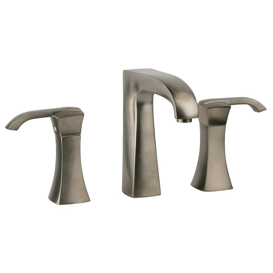 LaToscana Lady Brushed Nickel 2-Handle Widespread WaterSense Bathroom Faucet (Drain Included)