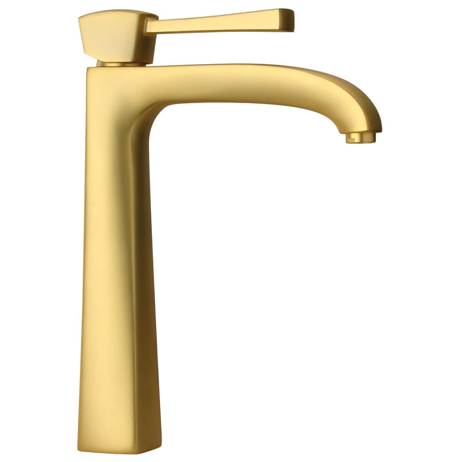 Latoscana Lady Satin Gold Handle Single Hole Watersense Bathroom Sink Faucet Drain