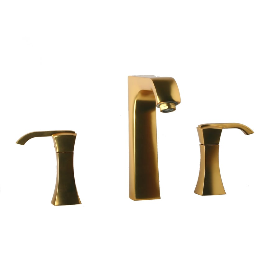 LaToscana Lady Matt Gold 2-handle Widespread Commercial Bathroom Faucet