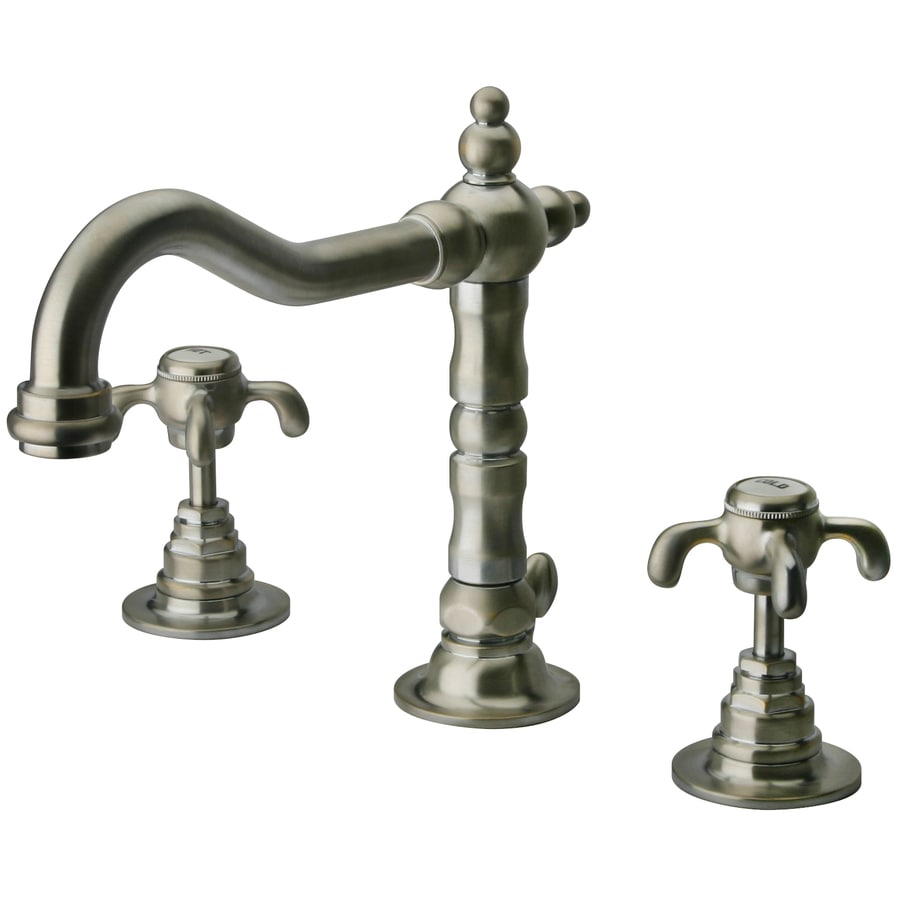 LaToscana Ornellaia Brushed Nickel 2-handle Widespread Commercial Bathroom Faucet