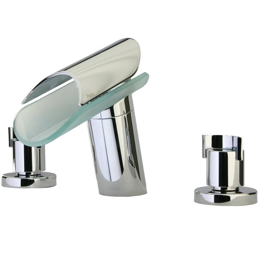 LaToscana Morgana Chrome 2-Handle Widespread WaterSense Bathroom Faucet (Drain Included)