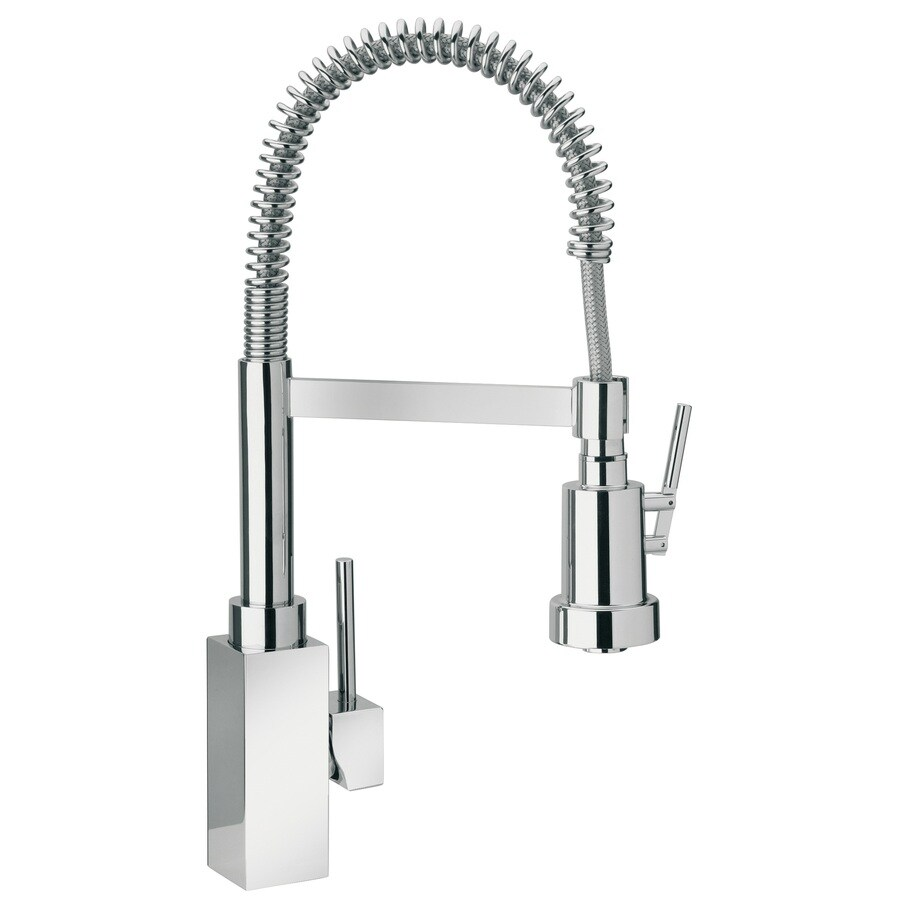 LaToscana Dax Chrome 1-Handle Deck Mount Pre-rinse Commercial Kitchen Faucet