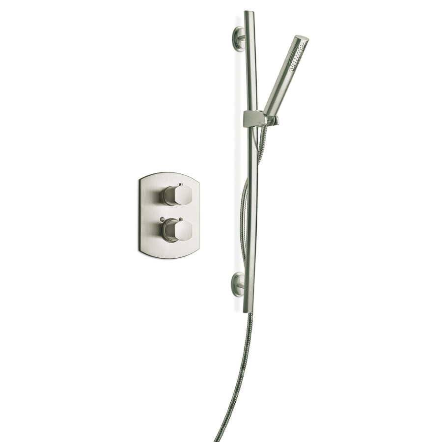 LaToscana Novello Brushed Nickel 2-Handle WaterSense Shower Faucet with Single Function Showerhead