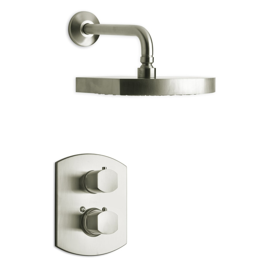 LaToscana Novello Brushed Nickel 2-handle Commercial Shower Faucet with Valve