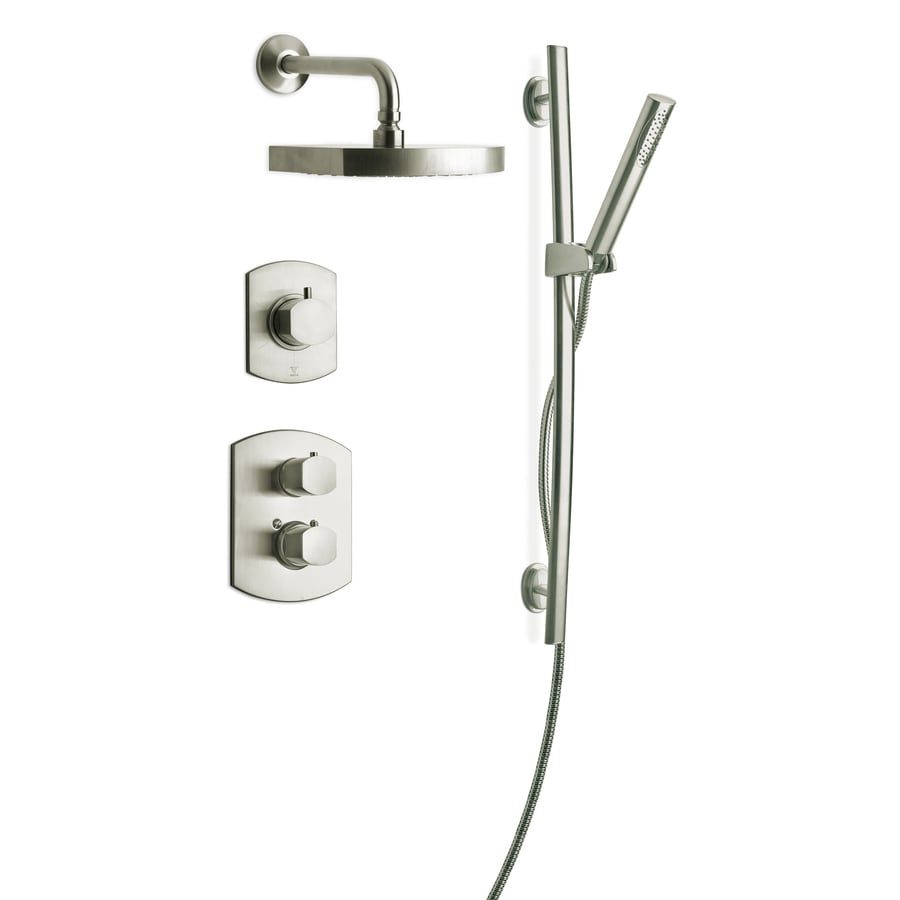 Shop LaToscana Novello Brushed Nickel 3 Handle Commercial Shower Faucet With