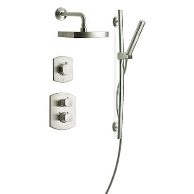 Latoscana Novello Brushed Nickel 3 Handle Shower Faucet With Valve
