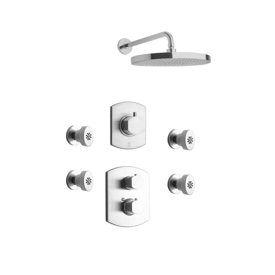 LaToscana Novello Brushed Nickel 3-handle Commercial Shower Faucet with Valve