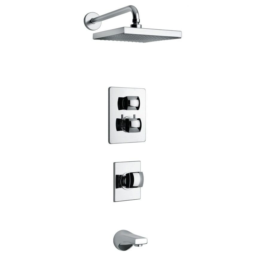 LaToscana Lady Chrome 2-Handle WaterSense Shower Faucet with Single Function Showerhead