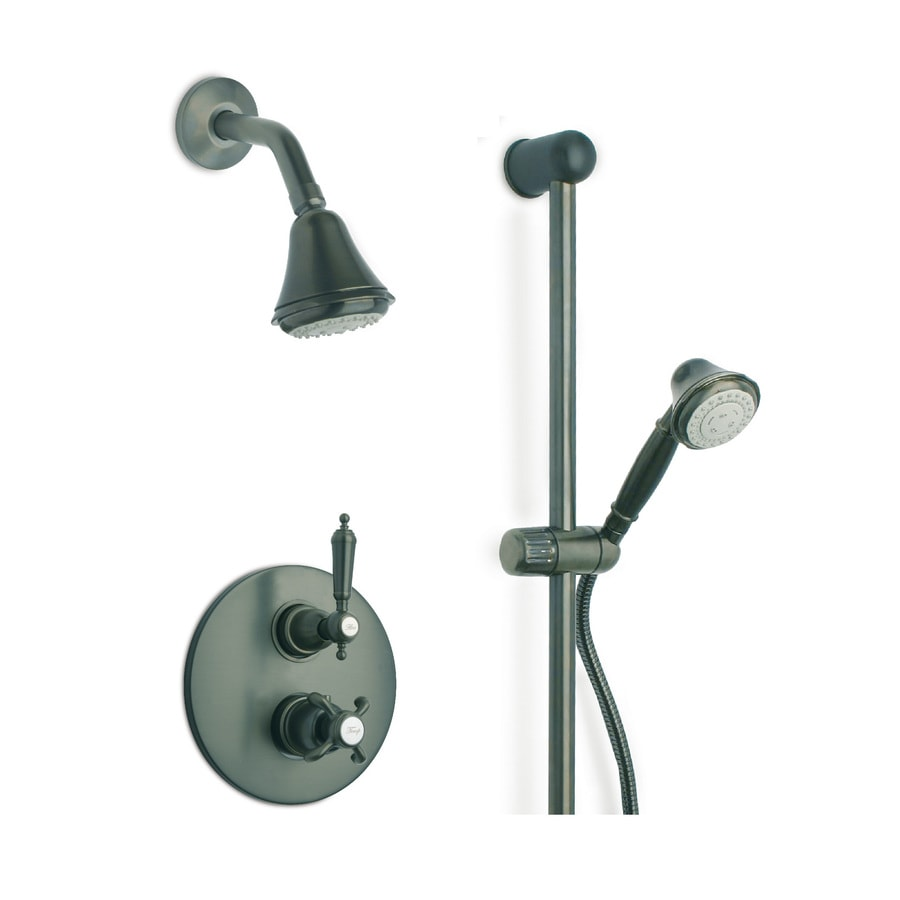 LaToscana Ornellaia Tuscan Bronze 2-Handle WaterSense Shower Faucet with Multi-Function Showerhead