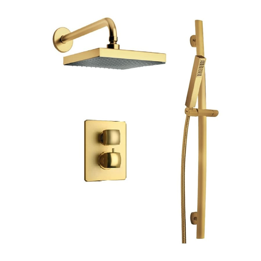 LaToscana Lady Satin Gold 2-Handle Commercial Shower Faucet with Valve