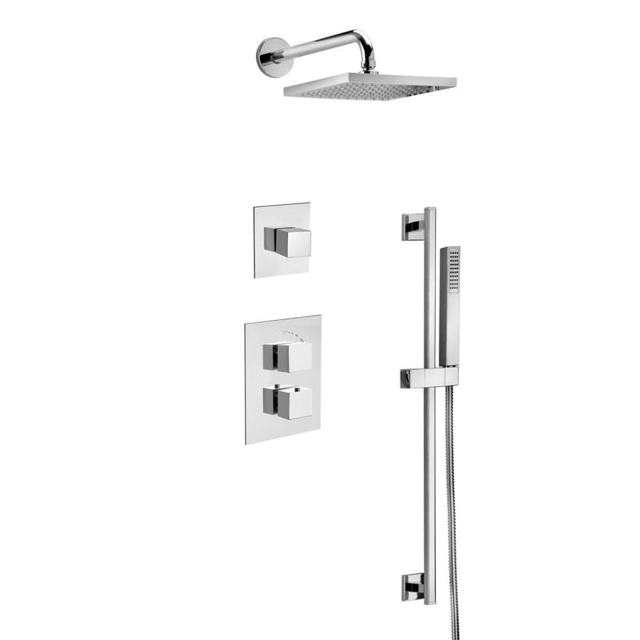 Latoscana Quadro Chrome 1 Handle Shower Faucet With Valve In The Shower Faucets Department At Lowes Com