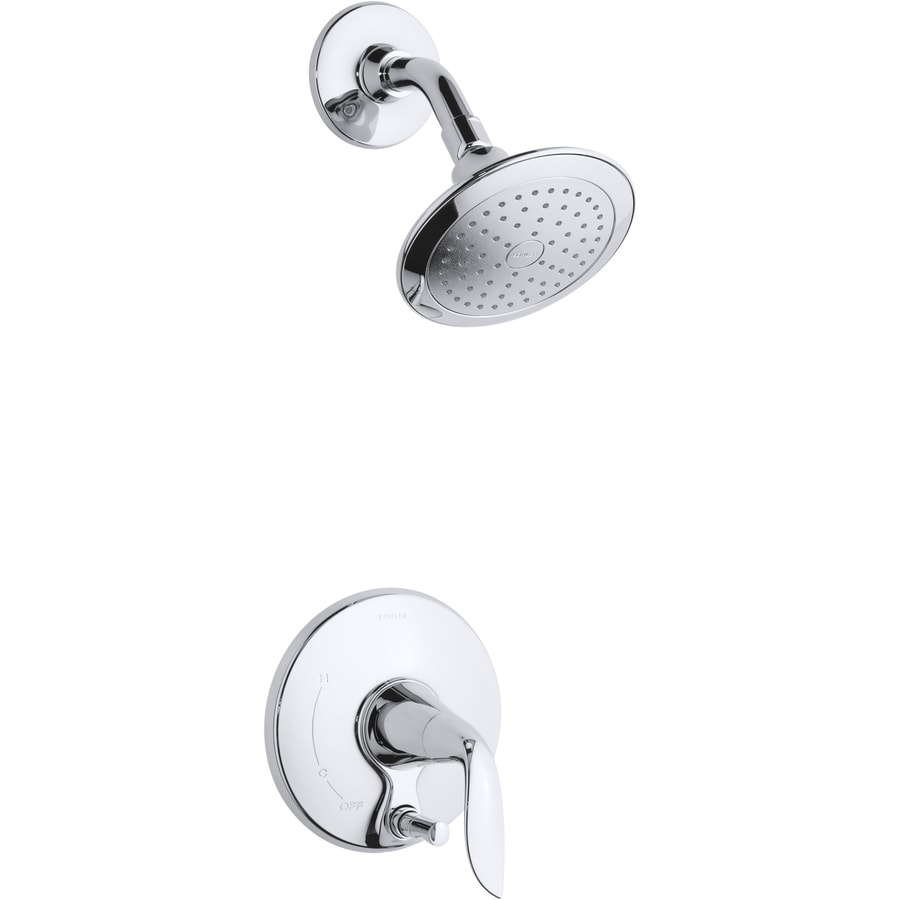 KOHLER Refinia Polished Chrome 1-Handle Shower Faucet Trim Kit with Single Function Showerhead