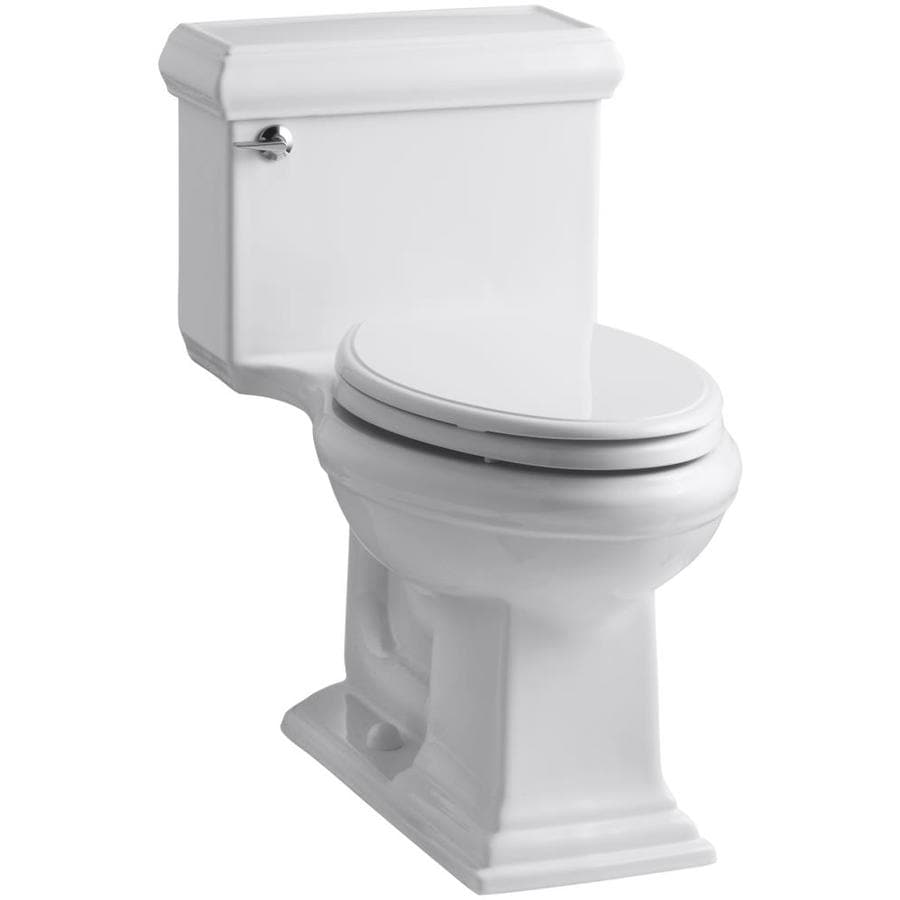 KOHLER Memoirs White 1.28-GPF (4.85-LPF) 12 Rough-In WaterSense Elongated 1-Piece Chair Height Toilet