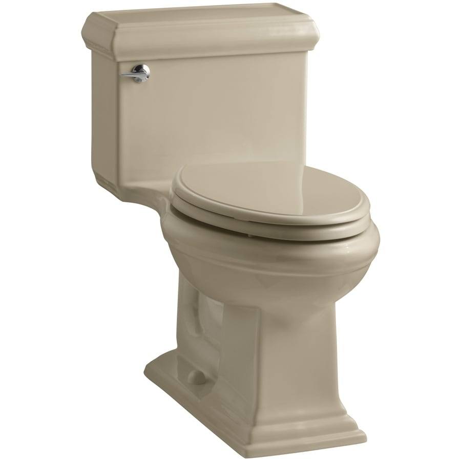 KOHLER Memoirs Mexican Sand WaterSense Labeled  Elongated Chair Height 1-piece Toilet 12-in Rough-In Size