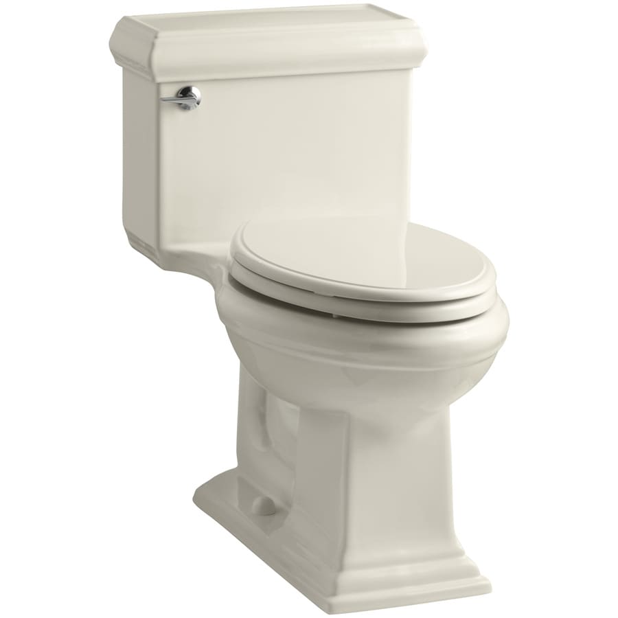 KOHLER Memoirs Almond WaterSense Labeled  Elongated Chair Height 1-piece Toilet 12-in Rough-In Size