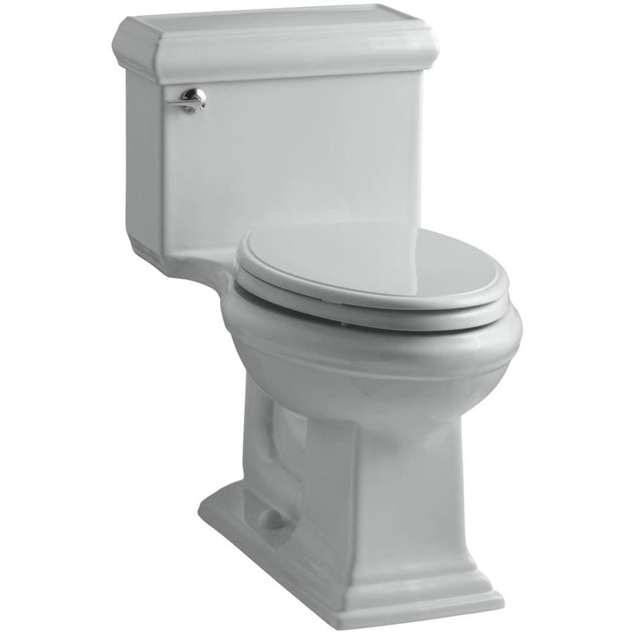KOHLER Memoirs Ice Grey 1.28-GPF (4.85-LPF) 12 Rough-In WaterSense Elongated 1-Piece Chair Height Toilet